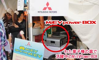 わた菓子機の裏で活躍するパワーボックス